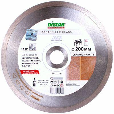 Круг алмазный Distar Bestseller 1A1R 250x25.4 мм плитка, гранит