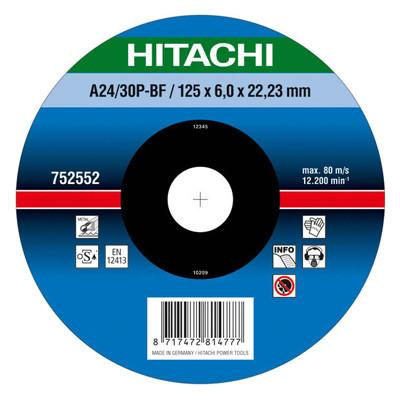Круг зачистной Hitachi 125x6.0x22.2 мм металл