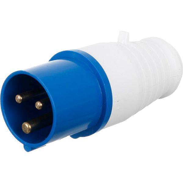Вилка электрическая силовая с заземлением Underprice 2p+PE (013) 220В 16А IP44