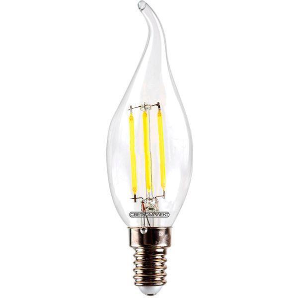 Лампа светодиодная Светкомплект Vintage Fil CA35 4 Вт E14 4500 К 220 В