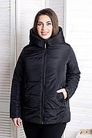 Куртка женская демисезонная больших размеров MODA 00059 (50-64) XL- 8XL Черный