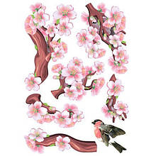 Декоративная наклейка Сакура 49x70 см