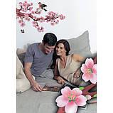 Декоративная наклейка Сакура 49x70 см, фото 2
