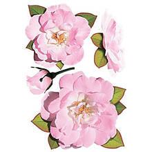 Декоративная наклейка Розы розовые 49x70 см