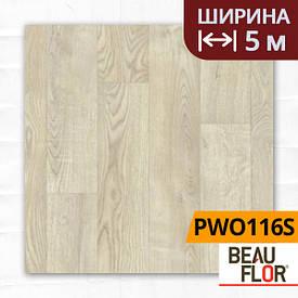 Лінолеум ПВХ Beauflor Pietro White Oak 116S, Ширина - 5 м; 2.25/0,25 - побутової