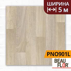 Лінолеум ПВХ Beauflor Pietro Natural Oak 901L, Ширина - 5 м; 2.25/0,25 - побутової
