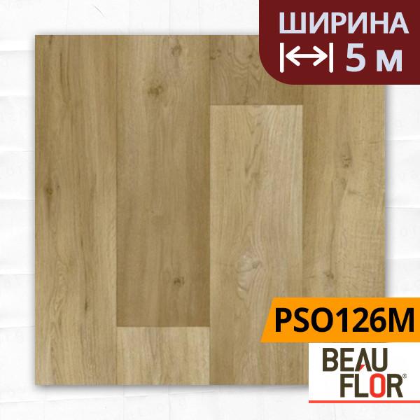 Лінолеум ПВХ Beauflor Pietro Spanish Oak 126M, Ширина - 5 м; 2.25/0,25 - побутової
