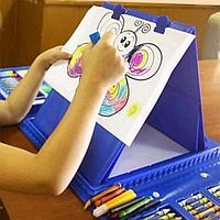 Детский набор творчества для рисования 208 предметов Blue (2_009516)