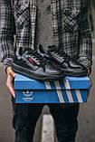 🔥 Кроссовки мужские спортивные повседневные Adidas Brand With The 3 Stripes (адидас бренд черные), фото 2