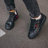 🔥 Кроссовки мужские спортивные повседневные Adidas Brand With The 3 Stripes (адидас бренд черные), фото 6