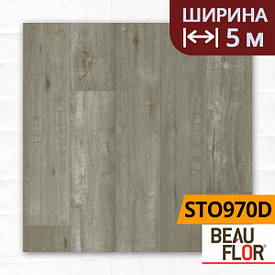 Лінолеум ПВХ Beauflor Supreme Tasmanian Oak 970D, Ширина - 5 м; 2.9/0,4 - напівкомерційний на підкладці