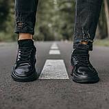🔥 Кроссовки мужские спортивные повседневные Adidas Brand With The 3 Stripes (адидас бренд черные), фото 7