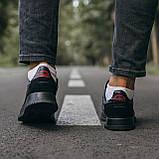 🔥 Кроссовки мужские спортивные повседневные Adidas Brand With The 3 Stripes (адидас бренд черные), фото 8