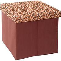Пуф Handy Home Рыжие Клетки для вещей 40х40х40 см
