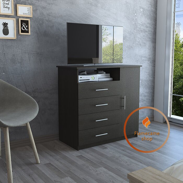 Комод під телевізор з ящиками і дверима з ДСП. Код: K-15077