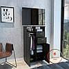 Комод под телевизор высокий со штангой для одежды внутри из ДСП. Код: K-15078, фото 8