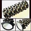 Роллер массажный (Grid Roller) черный для йоги, пилатеса 33*14 см