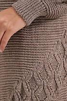 Молодёжный красивый вязанный  кардиган мятного цвета 44-52, фото 2