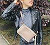 460 Натуральная кожа Сумка на пояс женская кожаная белая Сумка бананка женская белая из натуральной кожи, фото 5