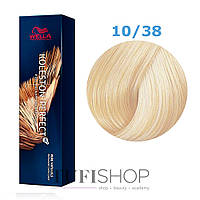 Краска для волос Wella Koleston Perfect № 10/38 (яркий блонд золотой жемчуг) - rich naturals