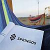 Гамак підвісний з дерев'яними перекладинами Springos 200 x 80 см HM028, фото 2
