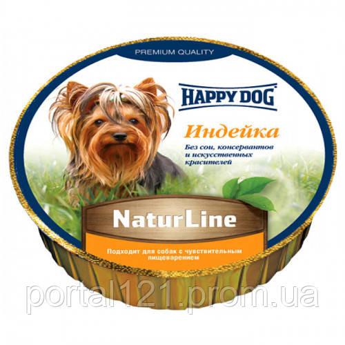 Влажный корм Happy Dog NaturLine для взрослых собак до 10 кг с чувствительным пищеварением, с индейкой, 85 г