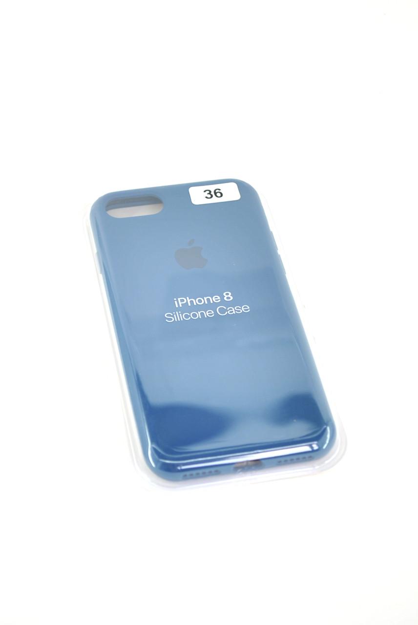 Чехол iPhone 7 /8 Silicon Case original FULL №36 saphire