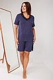 Батальный женский  комплект с шортами в горошек  Nicoletta 39010, фото 2