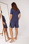 Батальный женский  комплект с шортами в горошек  Nicoletta 39010, фото 4