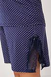Батальный женский  комплект с шортами в горошек  Nicoletta 39010, фото 6