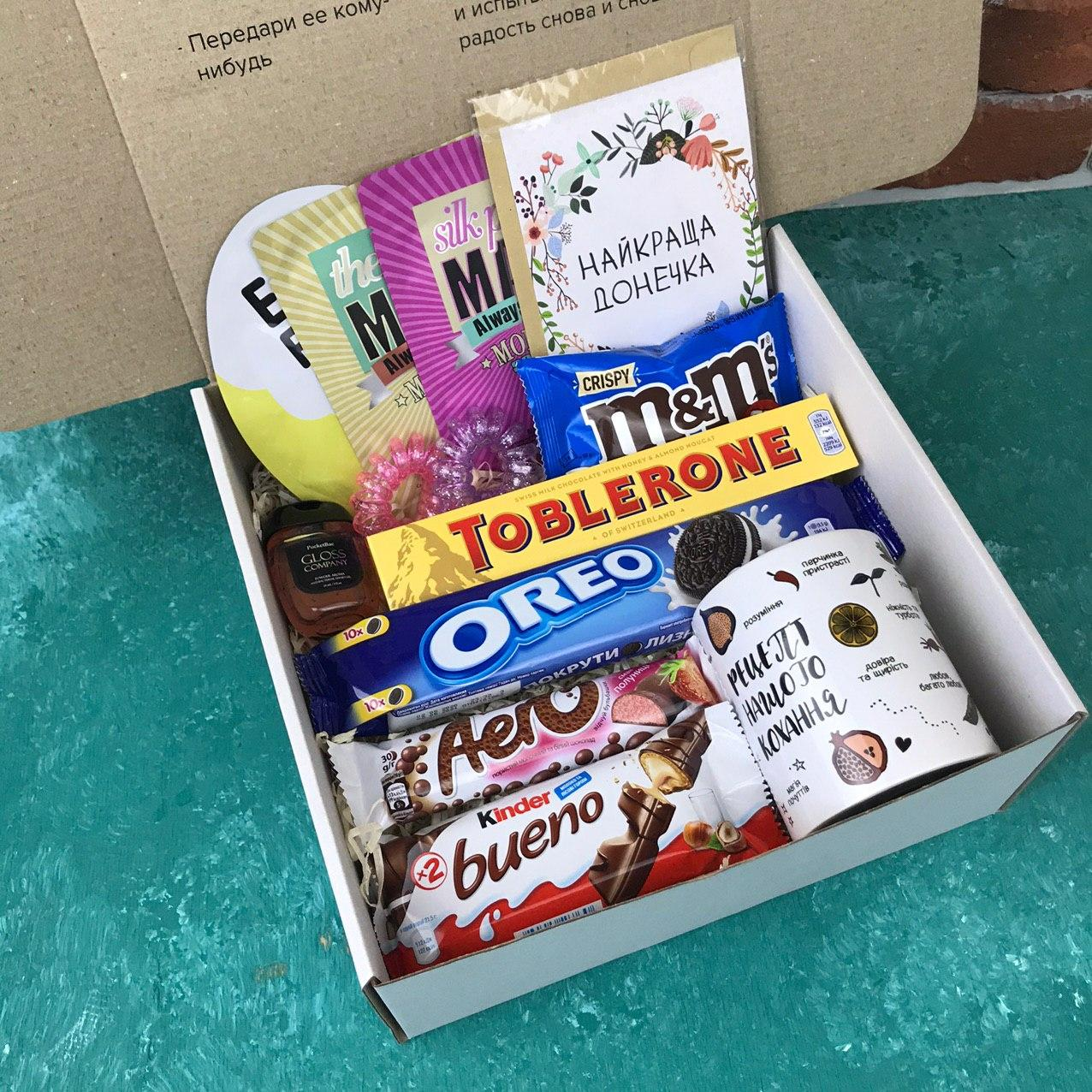 Подарочный Набор City-A Box Бокс для Женщины Сладкий Бьюти Beauty Box для Дочки из 13 ед №2868