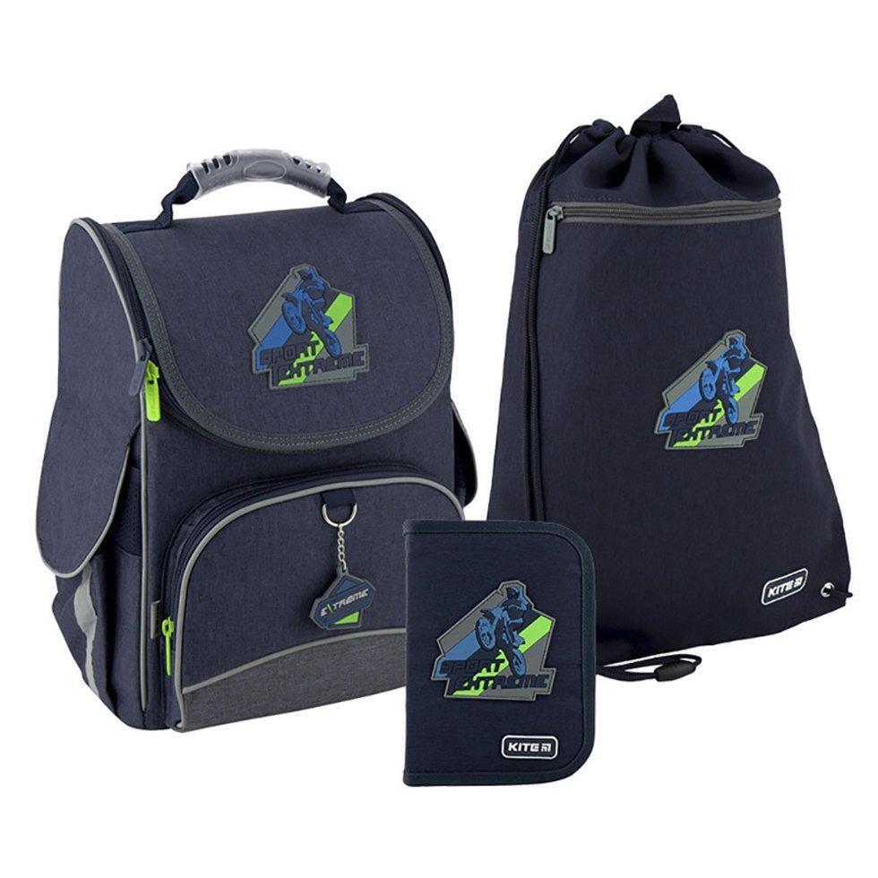 Рюкзак 501 набор школьный каркасный Kite Extreme K20-501S-4 пенал сумка