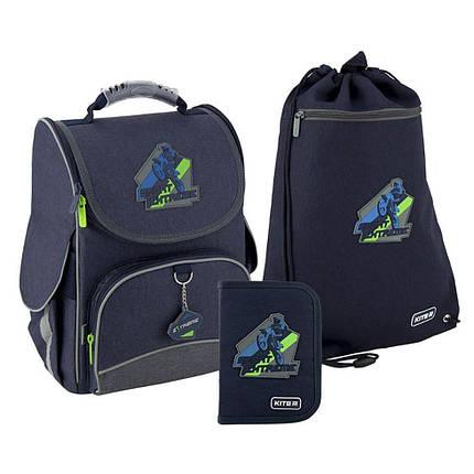 Рюкзак 501 набор школьный каркасный Kite Extreme K20-501S-4 пенал сумка, фото 2