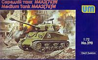 1:72 Сборная модель танка M4A2(76)W Sherman, Unimodels 390;[UA]:1:72 Сборная модель танка M4A2(76)W Sherman,
