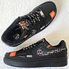 Wow! Nike Air Force 1 07 JDI кроссовки мужские кожаные черные Just do it