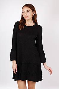 Платье женское 2894 вязка черное TRG