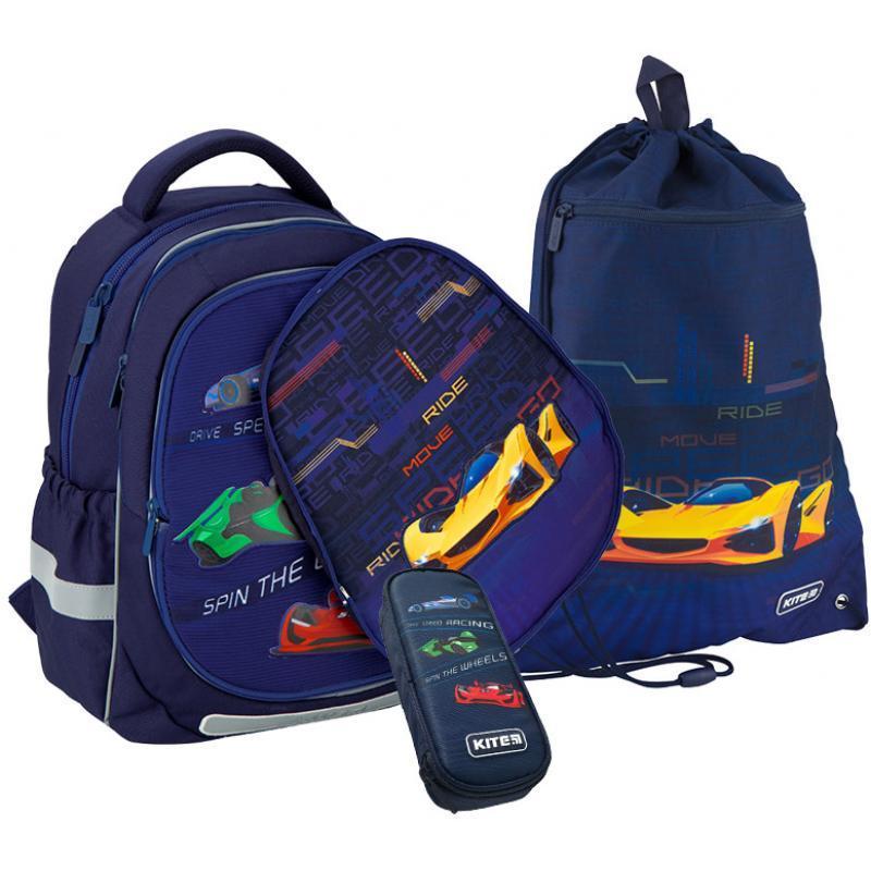 Рюкзак 700 Kite набор Education Fast cars K20-700M 2p -4 пенал сумка