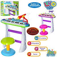 Детское Пианино Limo Toy 7235 Юній Віртуоз, голубой