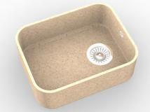 Мийка з акрилового каменю R003 (Hanex, Corian, Staron, Montelli)