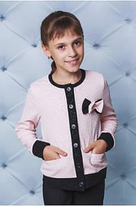 """Красивый детский пиджак для девочки с бантиком """"Сьюзи"""""""