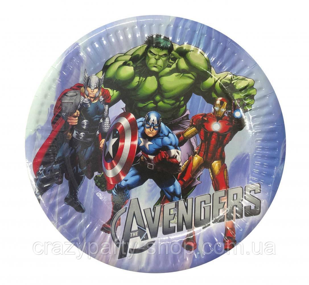 Тарелочка праздничная Мстители Супергерои Марвел