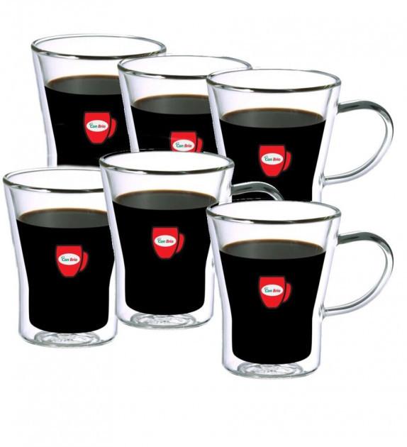"""Набір чашок з подвійними стінками 280 мл СВ-8528 упаковка 6 шт """"Con Brio"""""""