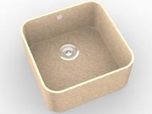Мийка з акрилового каменю R004 (Hanex, Corian, Staron, Montelli)