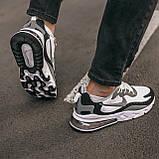 """🔥 Кроссовки мужские спортивные повседневные Nike Air Max 270 React """"Black White"""" (найк аир макс 270 серые), фото 4"""