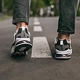 """🔥 Кроссовки мужские спортивные повседневные Nike Air Max 270 React """"Black White"""" (найк аир макс 270 серые), фото 6"""
