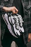 """🔥 Кроссовки мужские спортивные повседневные Nike Air Max 270 React """"Black White"""" (найк аир макс 270 серые), фото 3"""