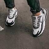 """🔥 Кроссовки мужские спортивные повседневные Nike Air Max 270 React """"Black White"""" (найк аир макс 270 серые), фото 9"""