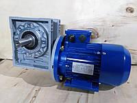 Червячный мотор-редуктор NMRV-40-50 электродвигателем 0,18 квт 220/380в, фото 1