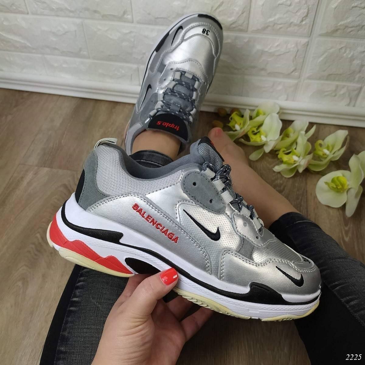Кросівки жіночі Balenciaga Код: 2225 Колір: срібло 38 р.