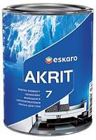 Краска для стен и потолков шелковистоматовая моющаяся Akrit 7 10л